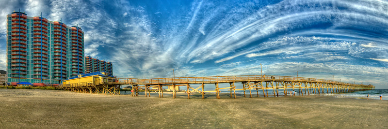 The Cherry Grove Fishing Pier in North Myrtle Beach, SC on Friday, October 5, 2012. Copyright 2012 Jason Barnette
