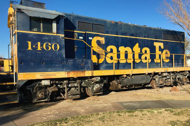 Old Santa Fe switcher at the Barstow Depot
