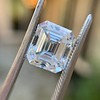 3.10ct Vintage Emerald Cut Diamond, GIA H VS1 24
