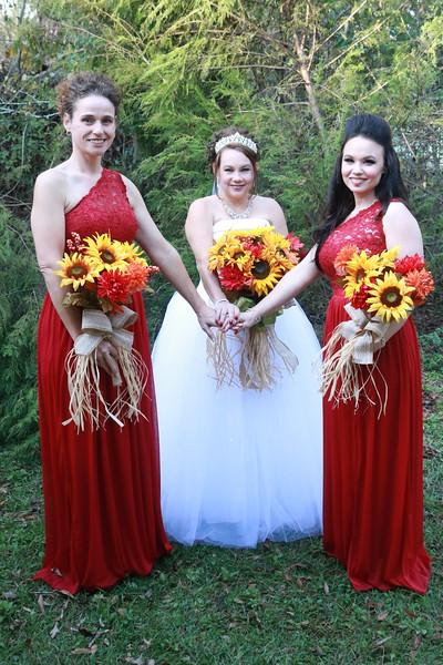 Gina Sims Cain Wedding Party