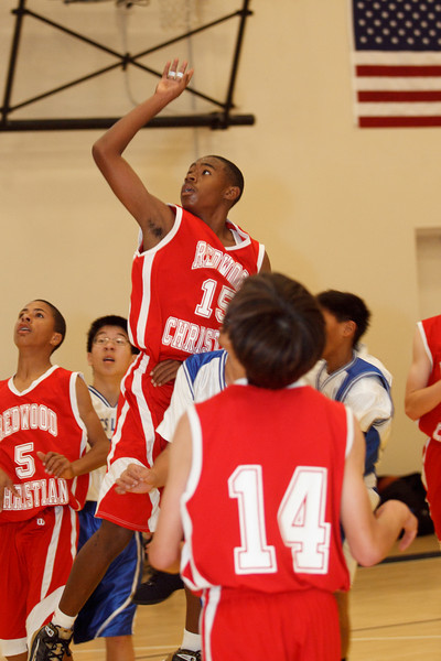 RCS MS Boys' Basketball Semifinals vs Milpitas Christian - Jan 29, 2011