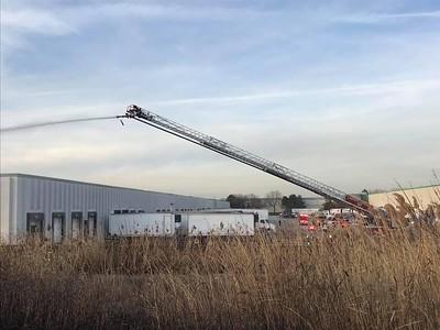 Bensenville brush fire Nov. 27,  2017