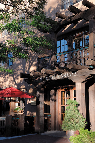 Our hotel, the Inn of the Anasazi. Very deluxe!   Santa Fe, New Mexico: our September 2010 trip.