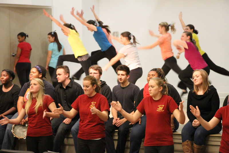 """Joyful Hands puts on a Megabash benefit concert including performances by Joyful Hands, Heart of Fire dance ministry, and the Gospel Choir. All three groups combined for a combined performance of """"Open the Eyes of My Heart"""" by Michael W. Smith."""