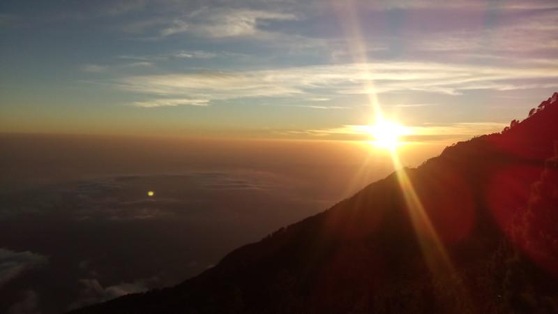 Sonnenuntergang Richtung Pazifik
