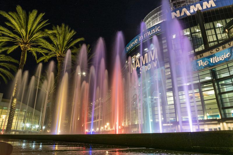 NAMM Promenade at Night
