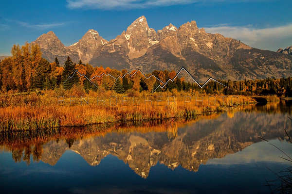 Teton Range, WY reflected in the Snake River