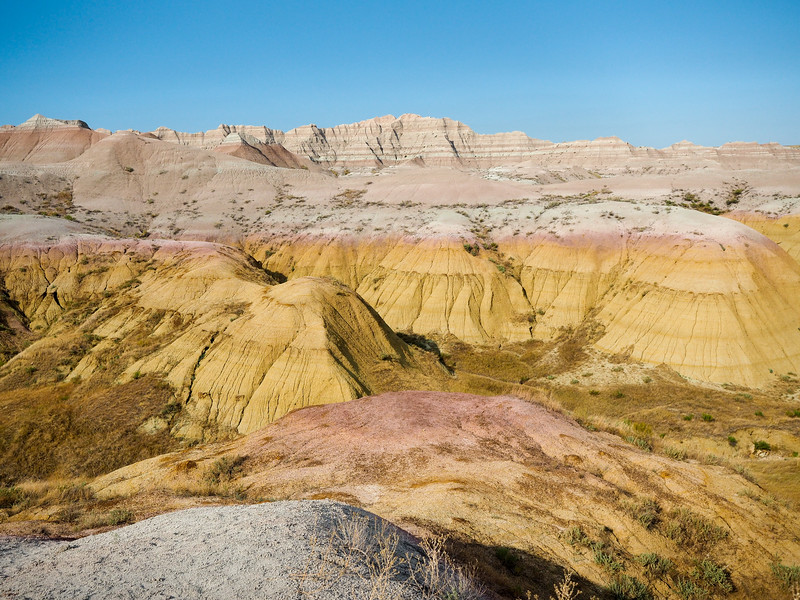 Colorful rocks in Badlands National Park