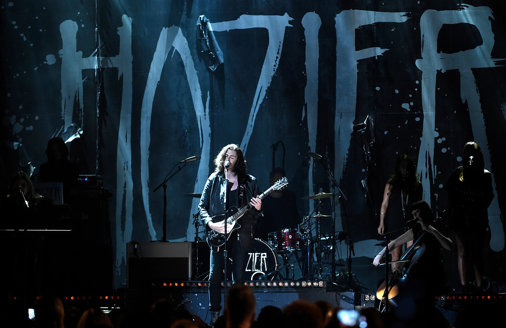 . Hozier performs at the Billboard Music Awards at the MGM Grand Garden Arena on Sunday, May 17, 2015, in Las Vegas. (Photo by Chris Pizzello/Invision/AP)