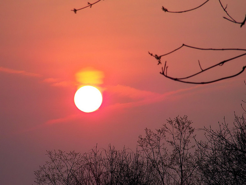 """""""Sun with a new hat"""" as imaged April 18, 2011 from Bethel Park, PA"""