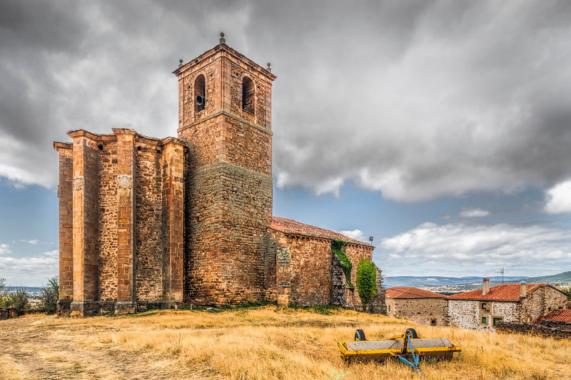 Gothic church of Nuestra Señora del Rosario, hamlet of Gallinero, Almarza, province of Soria,  Spain