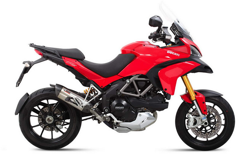 MIVV exhaust system for the Multistrada 1200   http://www.mivv.it/en/  See: Multistrada 1200 Exhausts Systems & Exhaust Modifications   http://www.motorcycleinfo.co.uk/index.cfm?fa=contentGeneric.qsconequekcvtgsq&pageId=2227905