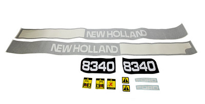 FORD NEW HOLLAND 8340 SERIES BONNET DECAL SET