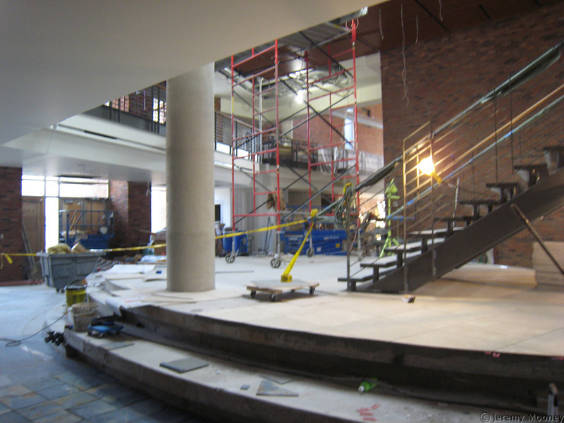 Stairway in atrium area, hallway between CC and AC.