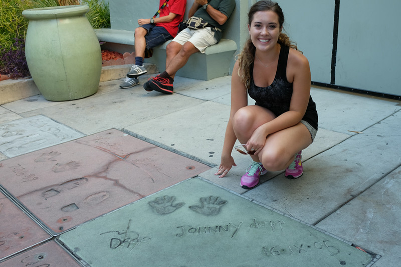 Emma and Johnny Depps hand prints.