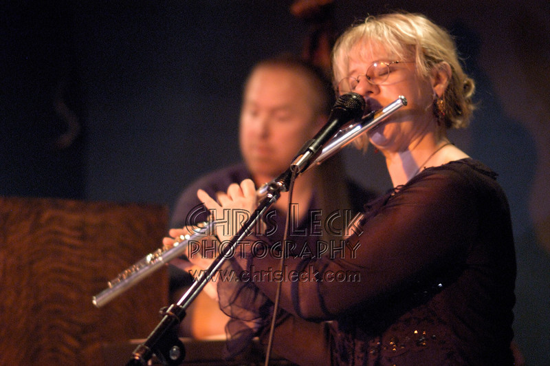 """Cheryl Alex CD release concert for """"Take My Time"""" at Blue Monk, March 6, 2005. Musicians: Cheryl Alex (flute & vocals),  Randy Porter (piano),  Jerry Hahn (guitar),  Dan Schulte (bass), and Gary Hobbs (drums)."""