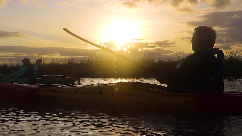 St Simons - East Beach - Kayaking during Sunrise