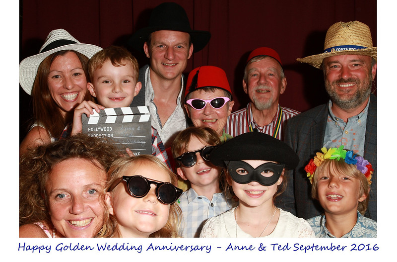 Anne and Ted's Golden Wedding Photobooth Photos