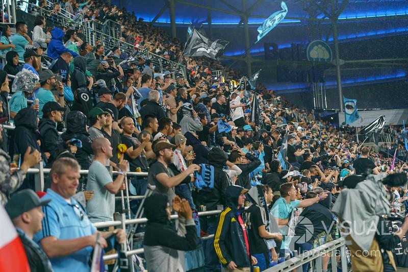 Fans at Allianz Field