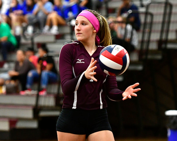 10/1/2019 Mike Orazzi   StaffrBristol Central's Jadyn Bauer (1) during Tuesday's volleyball match with Platt at BC.