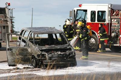 Car Fire at Motel