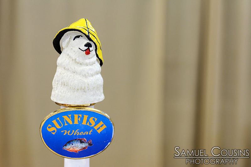 """Tap handle for Sea Dog Brewing's """"Sunfish Wheat"""""""