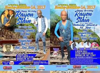 "RAYON STAIN ""BIRTHDAY 2017""(30)"