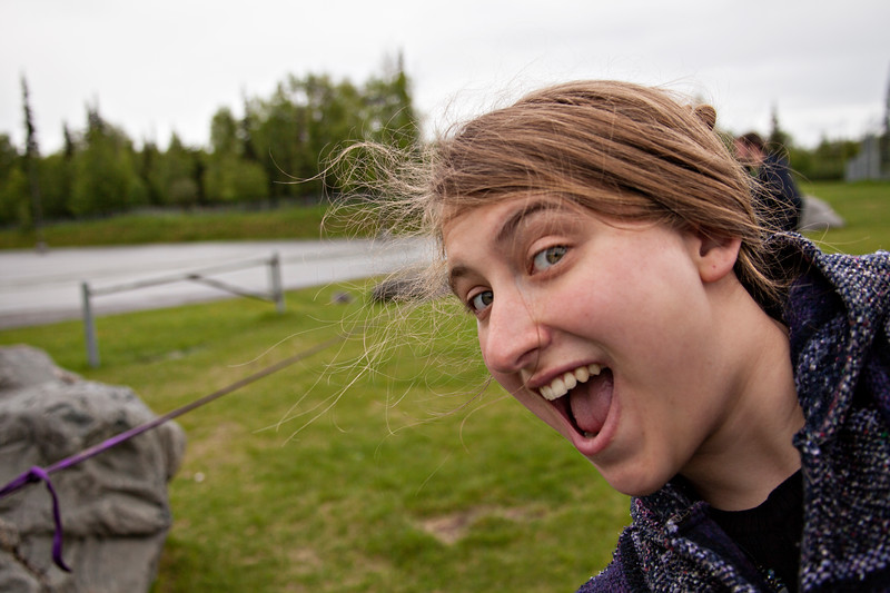 June 13, 2012. Day 159.   Either I'm super duper excited to be taking a slackline video, or I'm diving to eat a bug. You pick.  Wasilla, AK