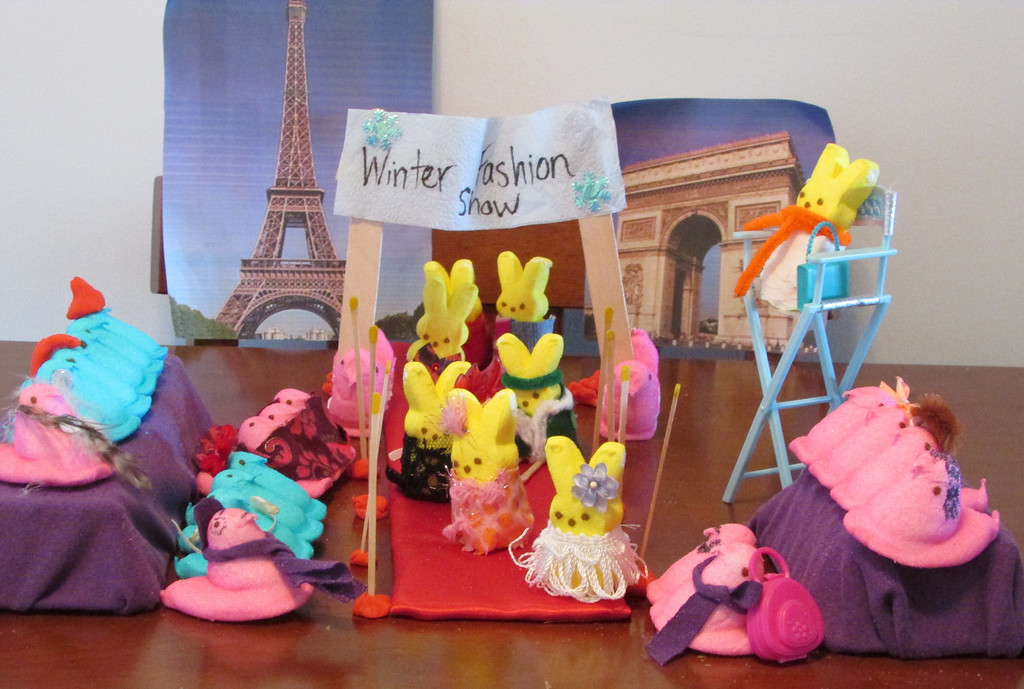 ". ""Peep Fashions,\"" by Rebecca McClure, Maplewood"