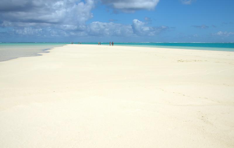 Walking along the sand bar...