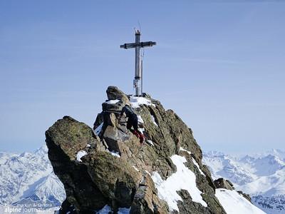Dreiländerspitze ski tour, Silvretta 2014-03-30