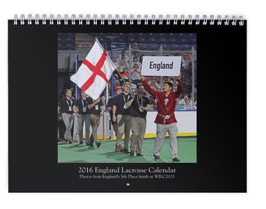 2016 England Lacrosse Calendar (WILC2015)