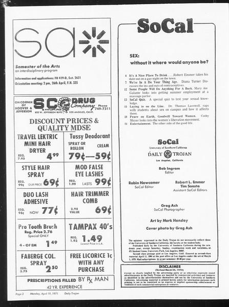 SoCal, Vol. 62, No. 106, April 19, 1971