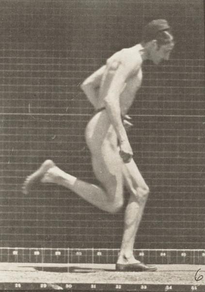 Man in pelvis cloth running at full speed
