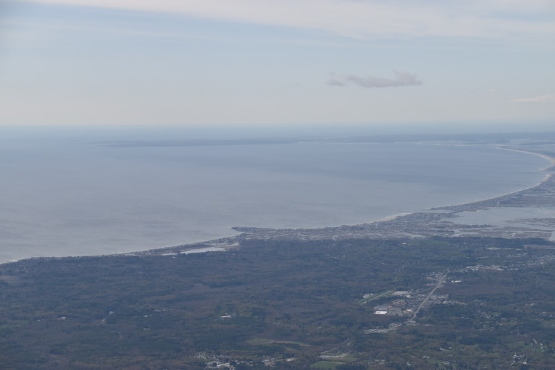 On the far side of the peninsula in the distance is Glouchester, MA; I had visited there two days before.