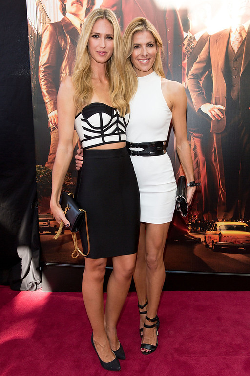 ". Nikki Phillips and Laura Csortan arrive at the ""Anchorman 2: The Legend Continues\"" Australian premiere on November 24, 2013 in Sydney, Australia.  (Photo by Caroline McCredie/Getty Images for Paramount Pictures International)"