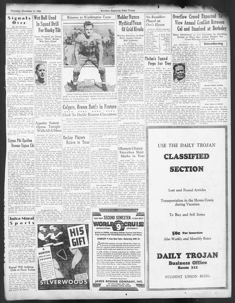 Daily Trojan, Vol. 24, No. 48, November 17, 1932