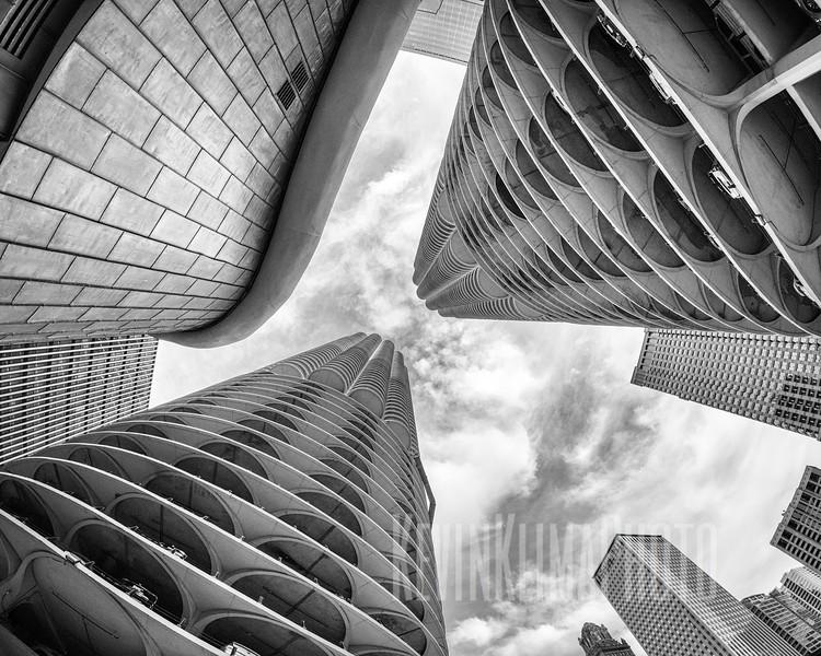 Marina City - Looking Up