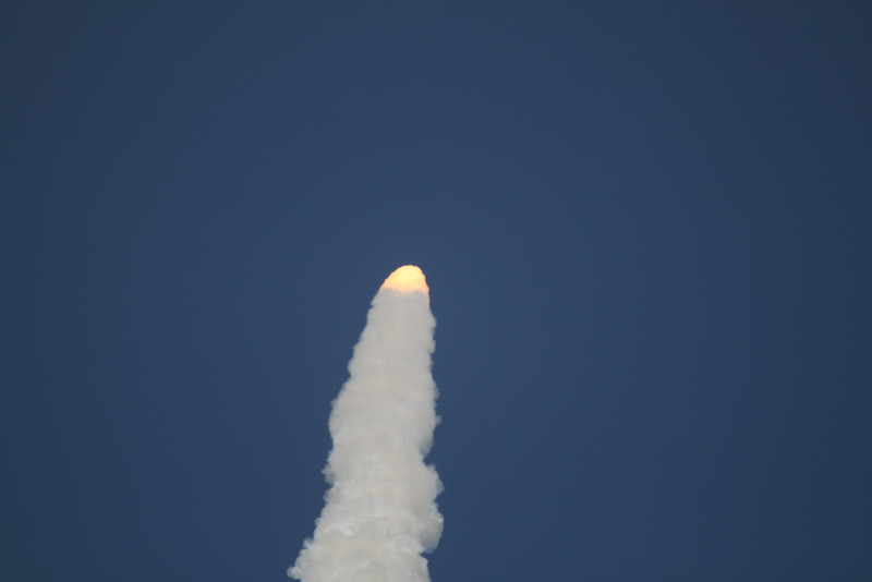 Atlantis, T plus 1 minutes, 8 seconds after liftoff