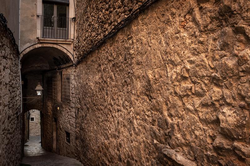 Narrow streets of Old Girona