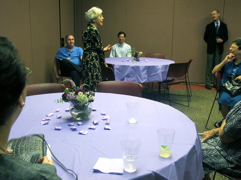 Florence Siegel thanking her guests.jpg