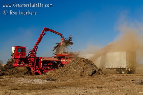 "Grinding the ""Burn"" Pile - 3-9-2012"