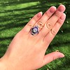 2.27ct (est) Art Deco Old European Cut Diamond with Amethyst Halo Ring 7