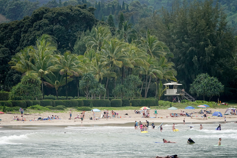A view of Hanalei Beach, from the Pier.