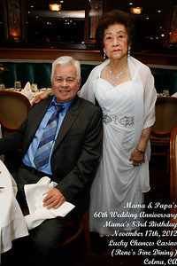 Mama and Papa's 60th Wedding Anniversary