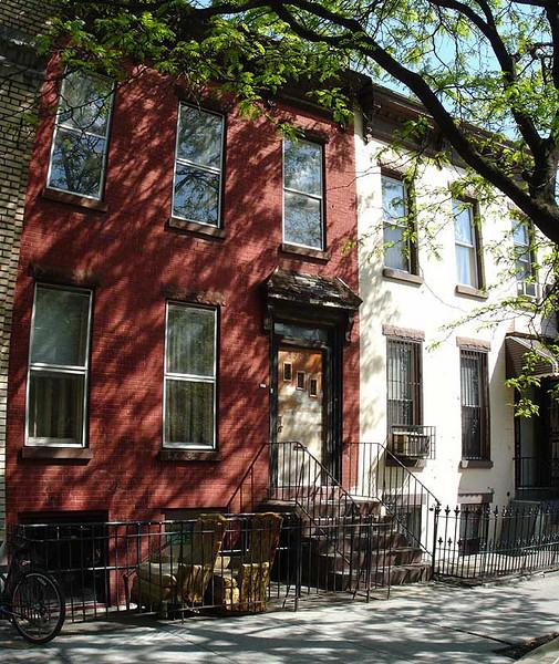 A quiet summer's day. Greene Avenue, north of Knickerbocker Avenue. 2005.