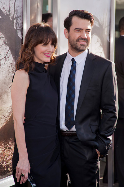 HOLLYWOOD, CA - JULY 15: Actor Ron Livingston (R) and wife Rosemarie DeWitt arrive at the Los Angeles Premiere 'The Conjuring' at ArcLight Cinemas Cinerama Dome on Monday, July 15, 2013 in Hollywood, California. (Photo by Tom Sorensen/Moovieboy Pictures)