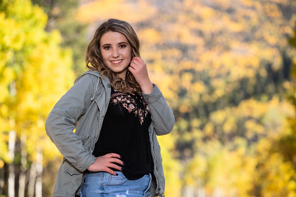 Katylynn Hamman Senior Portrait Fall THS 2020