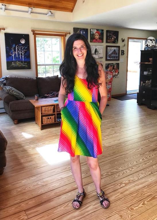 rainbow dress for pride parade