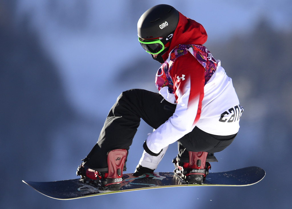 . Canada\'s Sebastien Toutant competes in the Men\'s Snowboard Slopestyle qualification at the Rosa Khutor Extreme Park during the Sochi Winter Olympics on February 6, 2014. AFP PHOTO / JAVIER SORIANO/AFP/Getty Images